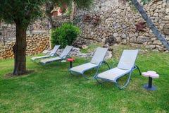 放松的庭院 库存照片