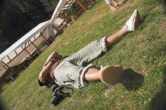 放松的摄影师 免版税库存照片