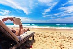 放松的海滩 库存照片