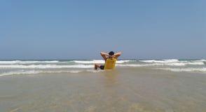 放松的海滩 图库摄影