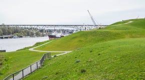 放松的美妙的地方在西雅图-煤气厂停放-西雅图/华盛顿- 2017年4月11日 库存图片