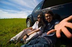 放松2对的夫妇 库存照片