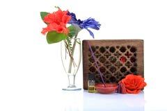 放松aromatherapy的项目 免版税图库摄影