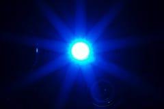 放热光的闪亮指示在黑暗的手术空间 免版税库存图片