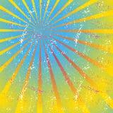 放热,聚合的线,光芒 明亮的星爆炸,镶有钻石的旭日形首饰的背景 免版税库存图片