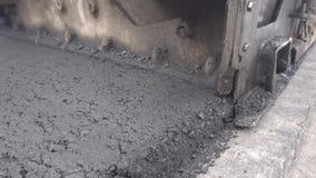 放置设备摊铺机工作者的沥青 溜冰场5 股票视频