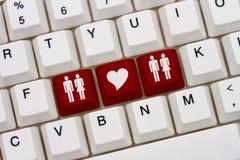 放荡的人互联网约会站点 库存图片