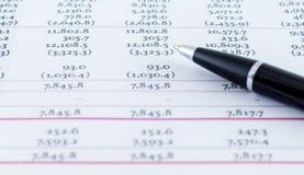财政业务模式会计 免版税库存照片