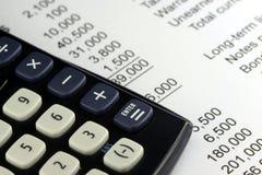 财政决算 免版税库存照片