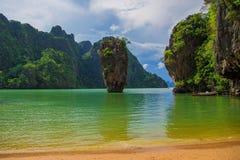 政券海岛詹姆斯・泰国 免版税库存照片