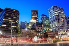 财政区在街市波士顿 库存照片