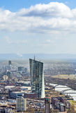 财政区的天线在法兰克福 库存照片