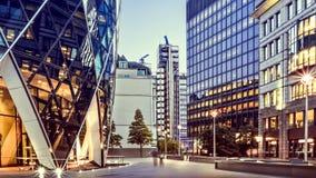 财政区,伦敦 免版税库存照片
