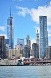 财政区,曼哈顿 免版税图库摄影