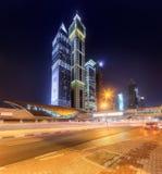 财政区,迪拜,阿拉伯联合酋长国看法  库存图片