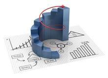 图和图表 免版税图库摄影