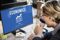 财政商业经济财政图表概念 免版税库存图片