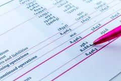 财政图统计办公桌商人工作区 图库摄影
