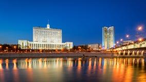 政府和莫斯科的政府俄国议院的 库存照片