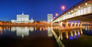 政府和莫斯科的政府俄国议院的 免版税库存图片