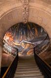 政府墨西哥墨瑞利亚墙壁上的宫殿台阶 免版税库存图片