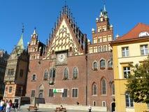 政府大厦在弗罗茨瓦夫,波兰 库存照片
