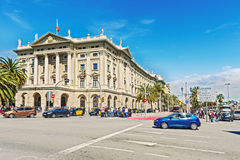 政府大厦在巴塞罗那,西班牙 库存图片