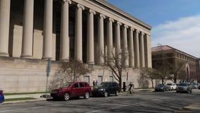 政府大厦天外部建立的射击  影视素材
