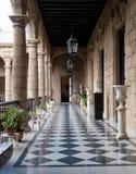 政府大厦的走廊,帕拉西奥De Los Capitanes Gene 库存照片