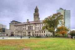 政府大厦看法在渥斯特,马萨诸塞 库存图片