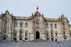 政府宫殿在利马,秘鲁 图库摄影