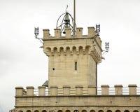 政府宫殿在圣马力诺 库存照片