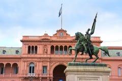 政府房子在布宜诺斯艾利斯,阿根廷 免版税库存照片