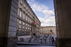 政府机关,克里斯蒂安堡宫殿,哥本哈根,丹麦 免版税图库摄影