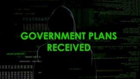 政府计划被接受的,可怕阴影黑客计划国家防御攻击 股票视频