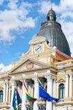 政府玻利维亚的宫殿在拉巴斯,玻利维亚 免版税库存照片