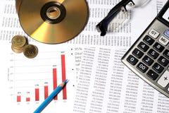 财政或会计概念 免版税库存照片