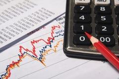 财政或会计概念 库存照片