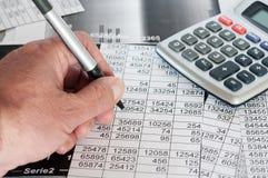 财政机会的研究 免版税库存照片