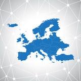 政治欧洲地图,例证 皇族释放例证