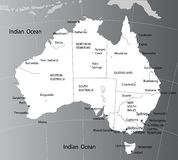 政治澳洲的映射 免版税库存照片