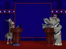 政治辩论 图库摄影