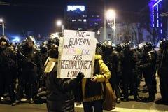 政治集会在罗马尼亚 库存照片