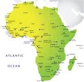 政治非洲的映射 免版税库存图片