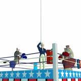政治1个拳击的当事人 库存图片