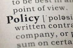 政策 免版税图库摄影