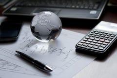 财政表格设置 免版税库存图片