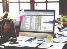 财政规划会计报告报表概念 库存图片