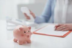 财政规划和咨询 库存照片