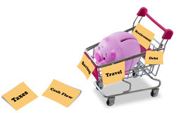 财政规划概念 图库摄影